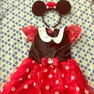 Disney Minnie Mouse Halloween Costume 2T Size